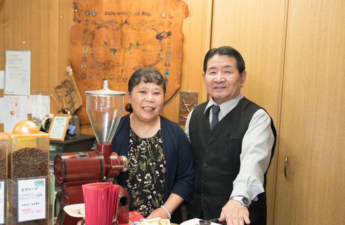 永年夫婦で営んできたキャスクのコーヒー