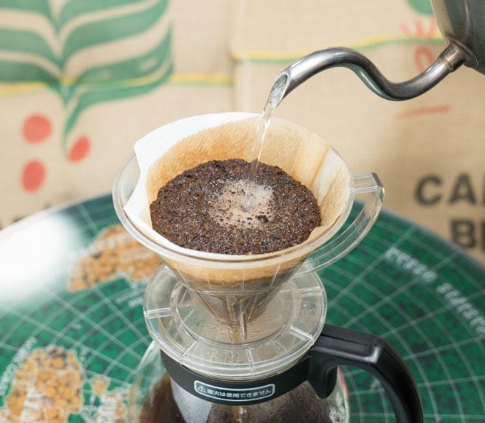 ドリップコーヒーもキャスクのコーヒー